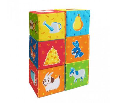 Набір кубиків Тваринки на фермі МС 090601-05 *