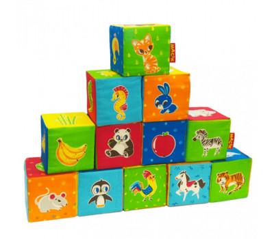 Набір кубиків Тваринки (12шт) MC 090601-04 *