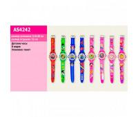 Детские наручные часы AS4242 (480шт/4) микс видов, 4*22см в пакете *