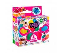 Набір тіста для ліплення ТМ Lovin''Do Асорті 4 кольори з глітером (30)