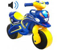 Мотобайк музыкальный Police синий