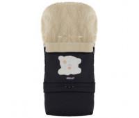 Зимний конверт Babyroom №20 с удлинением  черный (мордочка мишки штопаная)