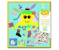 DJECO Художественный комплект с наклейками