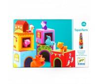 DJECO Игра Топанимо ферма 6 кубиков+6 животных