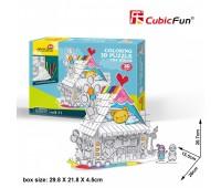 """CubicFun Трехмерная головоломка-конструктор """"Десертний Дом"""" 1"""