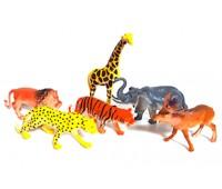 Набор диких животных в кульке 6шт 303-47 р.31*19*5см *