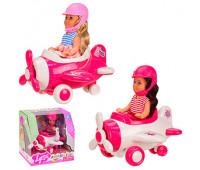 Кукла маленькая 4609 (48шт/2) 2 цвета,с самолетом в кор. 14.5*12*15 см, р-р игрушки – 12 см *