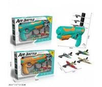 Игровой набор Air Battle 666 (48шт/2) 2цвета, оружие и 4 самолета,в кор. 35*7,3*21,5см *