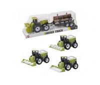 Трактор инерц. с прицепом (колпак) 9970-3B р.34*8*10см *