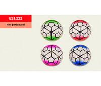 Мяч футбол E31223 (100 шт) №3, PVC, 160 грамм,4 цвета *