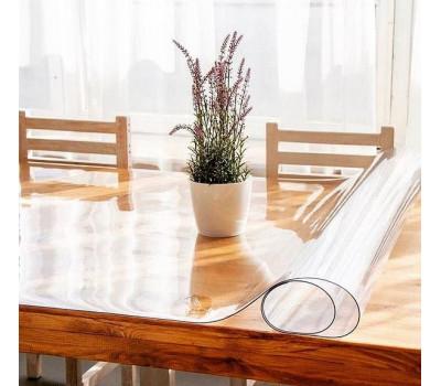 Скатерть защитная Мягкое стекло на стол глянцевое, толщина 1 мм