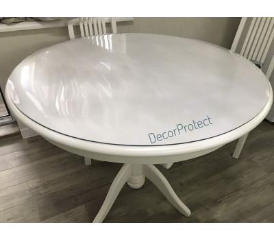 Скатерть защитная DecorProtect Мягкое стекло на стол глянцевое, толщина 3 мм