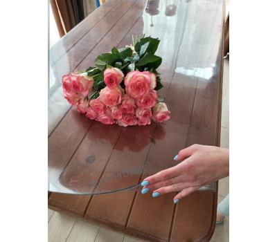 Мягкое стекло глянцевое. Силиконовая защитная скатерть на стол, толщина 2,5 мм