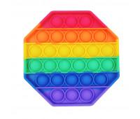 Игрушка антистресс Pop It Поп Ит Радужный Многоугольник Push Up Bubble тыкалка для детей и взрослых
