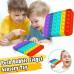 Игрушка антистресс Pop It Поп Ит Радужный Квадрат Push Up Bubble тыкалка для детей и взрослых