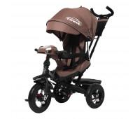 Велосипед трехколесный TILLY CAYMAN с пультом и усиленной рамой T-381/2 Коричневый лен /1/