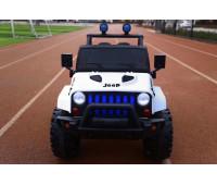 Эл-мобиль T-7843 EVA WHITE джип на Bluetooth 2.4G Р/У 12V7AH мотор 2*15W с MP3 118*69*79 /1/