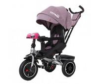 Велосипед трехколесный TILLY CAYMAN с пультом и усиленной рамой T-381/7 Фиолетовый лен /1/