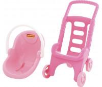 Тележка Polesie Pink Line 2х1 (44525)