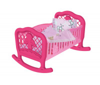 Колыбель-кроватка с одеялом Technok для пупса розовая (4524-1)