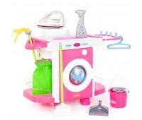 Игровой набор для девочки: стиральная машина, утюг и гладильный столик Carmen №6,  Polesie (48110)
