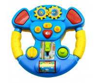 Игрушка Mommy love музыкальный руль голубой (60095-1)