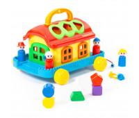 Детская развивающая игрушка Polesie сказочный домик на колесиках (48769)