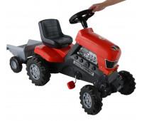 Каталка-трактор Polesie Coloma Y Pastor Turbo с педалями и полуприцепом (52681)