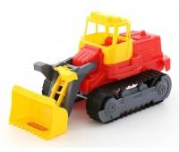 Детская игрушка трактор погрузчик гусеничный Polesie, красный (7377-1)