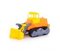 Детская игрушка трактор погрузчик гусеничный Polesie, оранжевый (7377-2)