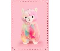 Мягкая игрушка FANCY милая Альпака Радужная 28 см (ALPK01/R)