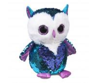 Мягкая игрушка FANCY Совенок Топаз блестящий с пайетками 22см (GSO0P)