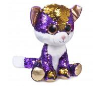 Мягкая игрушка FANCY Котенок Аметист блестящий с пайетками 23см (KGL0P)
