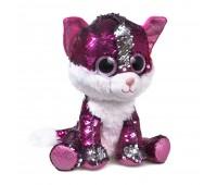 Мягкая игрушка FANCY Котенок Рубин блестящий с пайетками 15см (KGL0UPR)
