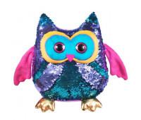 Мягкая игрушка FANCY Сова Вивьен блестящая с пайетками 23см (SOG01)