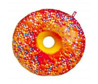 Подушка декоративная Fancy Пончик апельсиновая глазурь с посыпкой (PP01-А)