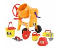 Игровой набор для мальчика Polesie: Бетономешалка + набор каменщика №7 Construct  (50649)