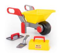 Детский игровой набор каменщика с тачкой, Polesie Wader (42064)