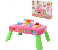 Конструктор с розовым столиком MOLTO-POLESIE, 20 элементов (58010)