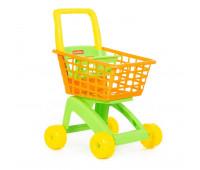 Детская тележка для супермаркета оранжево-салатовая Polesie (7438-2)