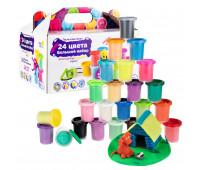 Набор для детской лепки GENIO KIDS «Тесто-пластилин 24 баночки» (TA1097)