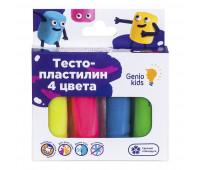 Набор для лепки «Тесто-пластилин 4 цвета» - Genio Kids (TA1082)