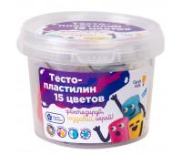 Набор для детского творчества «Тесто-пластилин 15 цветов» - Genio Kids (TA1066V)
