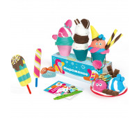 Набор для детской лепки из легкого пластилина GENIO KIDS «Кафе Мороженое» (TA1716)