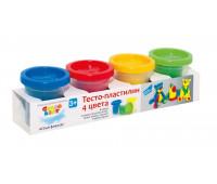 Набор для детского творчества «Тесто-пластилин 4 цвета» - Genio Kids (TA1008V)