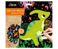 """CH1675 Набор для творчества, скретч-арт AVENIR """"Динозавры"""", 8 раскрасок"""