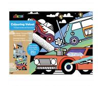 """CH191693 Набор для рисования AVENIR гигантская вельвет-раскраска """"Транспорт и атомобиль"""""""