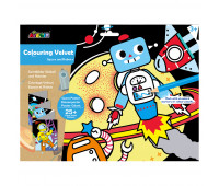 """CH191694 Набор для рисования AVENIR гигантская вельвет-раскраска """"Космос и робот"""""""
