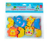 """5002027 Детские аква-пазлы """"Смешные животные"""", 4 игрушки"""
