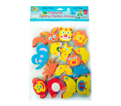 """5002025 Детские аква-пазлы """"Смешные животные"""", 8 игрушек"""